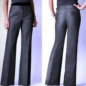 Ann Taylor LOFT black pinstripe wide leg trousers